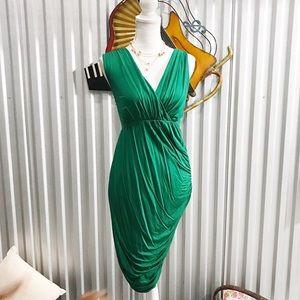Anthropologie Deletta Wicklow Emerald Ruched Dress